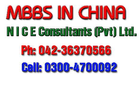 MBBS in China Consultants in Pakistan