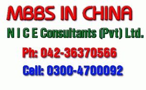 MBBS in China for Pakistani Students 2012